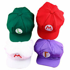 Luigi Super Mario Bros Cosplay Adult Size Hat Cap Baseball Costume UW02
