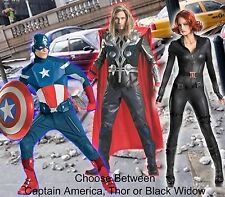 Adult Comic Marvel Avengers Captain America Thor Black Widow Theatrical Costume