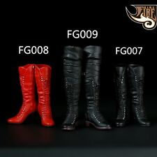 """1/6 Scale Sexy Female High Heels Mid Boots Combat Shoes Model Toys F12"""" Figure U"""