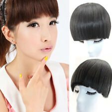 100% Virgin Remy Human Hair Bangs Neat Fringe Der Pony Clips In Hair Extensions