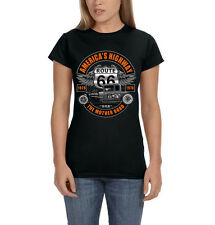 Route 66 Americas Highway The Mother Road USA Hot Rod CarWomen's T-Shirt Tee
