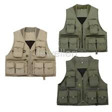 New Multi Pocket Mesh Jacket Outdoor Photography Hunting Hiking Fishing Vest