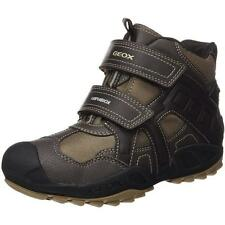 Geox Junior Savage A Coffee Textile Ankle Boots