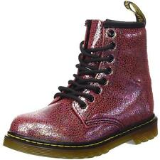 Dr Martens Delaney Youth Pink Sparkly Leather Ankle Boots