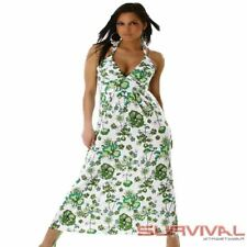WOMENS NEW SEXY COCKTAIL EVENING FLORAL HALTER NECK MAXI DRESS SIZE 8 10 12