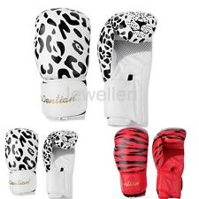 1 Pair PU Leather Boxing Gloves Mitts for MMA Sparring Fighting Muay kickboxing