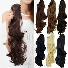 Women Clip In Ponytail Pony Tail Hair Extension Claw On Hair Piece Blonde Brown