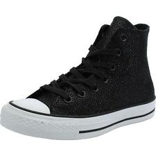 Converse Chuck Taylor All Star Stingray Metallic Black Leather Trainers