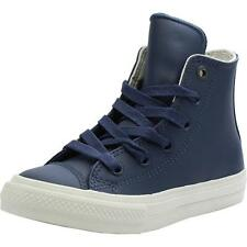 Converse Chuck Taylor All Star II Junior Athletic Navy Leather Trainers
