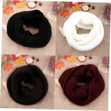 Women's Winter Warm Infinity 2Circle Cable Knit Cowl Neck Long Scarf Shawl SU