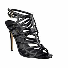 New Women's sz 9 GUESS Harlen Black Strappy Patent High-Heel Open-toe Sandals