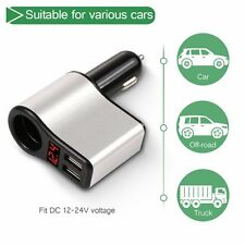 Universal Dual 2 Port USB 3.1A 12V Car Socket Cigarette Lighter Adapter Charger