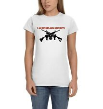 I Am Homeland Security 2nd Amendment AR-15 Patriotic Freedom Women's T-Shirt Tee