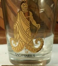 Sagittarius Birth Sign 12oz Rocks Glass with Gold Print - Sign of the Archer
