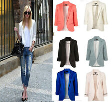 HOT New Fashion 6 Colors Women Candy Color Seventh Volume Sleeve Jacket Blazer