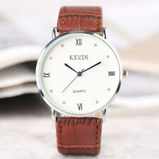 KEVIN Mesh Stainless Steel/Leather Band Roman Numbers Women Quartz Wrist Watch