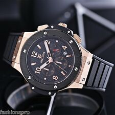 MEGIR 3002G Date Function Water Resistant Male Quartz Watch with Silicone Band