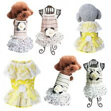 Pet Dog Lace Skirt Bow Tutu Dress Puppy Cute Princess Clothes Summer Party Dress