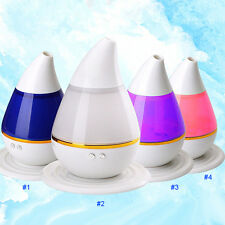 Water-Drop Ultrasonic Home LED Aroma Humidifier Air Diffuser Purifier Atomizerr
