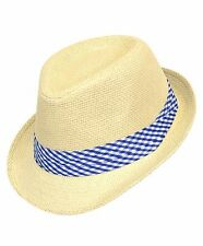 Boys Spring Plaid Banded Fedora Hats (BF9543)
