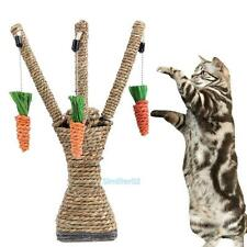 Pet Cat Kitten Scratching Post Fun Toys Tree Tower Scratcher Sisal Rope Climbing
