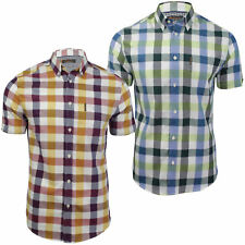 Mens Short Sleeved Buffalo Check Shirt by Ben Sherman
