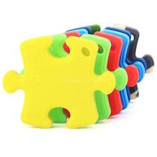 Baby Silicone Teething Necklace Safe Teether Nursing Beads Puzzle Pendant F1P2