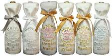 Personalised wedding bottle gift bag Silver,Pearl,Ruby,Gold &Diamond anniversary