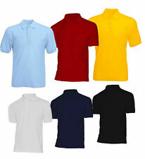 UniSex Boys Girls Kids Plain Blank Polo T-Shirt  Short Sleeve School ware 3-18