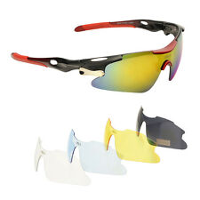 NEW 5 Interchangeable Lenses UV400 Polarized Outdoor Sports Running Sunglasses