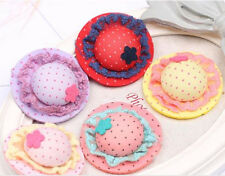 New Cute Caps lace dot Design Dog Hair Bows Pet Dog Grooming Hair Clips flowers