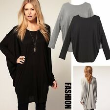 Women's Fashion Lady Loose Long Sleeve Scoop Neck Casual Blouse T-Shirt Tops