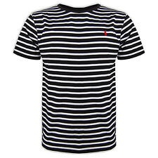 Mens Polo Ralph Lauren Striped T-Shirt Crew Neck Regular / Classic Fit S-XXL
