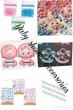 BABY SHOWER PARTY PINK or BLUE UNISEX DECORATIONS Banners MUM to be SASH Games