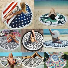 Mandala Floral Round Wall Tapestry Beach Towel Picnic Blanket Throw Hippie Mat