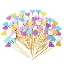 Vincenza Cake Decorating 10 Hearts Party Supplies Cupcake Toppers Toothpicks Pic