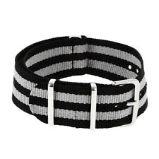 Nylon Watch Strap Stainless Steel Buckle Width 18mm/20mm/22mm Band Replacement