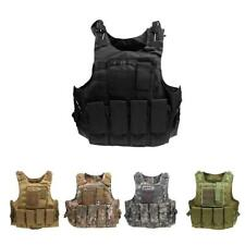 SWAT Police Military Tactical Adjustable Molle Plate Carrier Vest Waistcoat