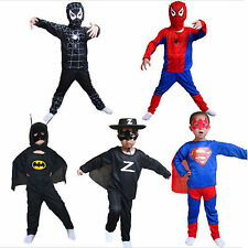 Kid Boys Superhero Spider-Man Batman Cosply Fancy Dress Outfit Costume Halloween