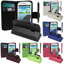 protective Cover for Samsung Galaxy S3 Mini i8190 Phone Briefcase Flip Case