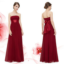 Ever-Pretty Women's Strapless Bridesmaid Wedding Dress Chiffon Prom Gown 09060