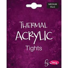 Silky Womens Ladies Thermal Acrylic Tights Black