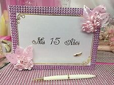 Mis Quince Anos Guest Book with Pen Keepsake Sweet 15 Spanish Birthday