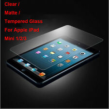 Tempered Glass/Clear/Matte Film Screen Protector For Apple iPad Mini 1/2/3 Lot