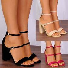 BARELY THERE ANKLE STRAPS PEEP TOES STRAPPY SANDALS HIGH HEELS SHOES SIZE