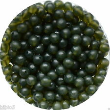 Translucent Green Rubber Shock Buffer Beads 4, 6& 8mm - Tapered Bore.Carp,Coarse