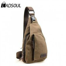 Vintage Men Messenger Shoulder Bag Canvas Military Hiking Travel Backpack