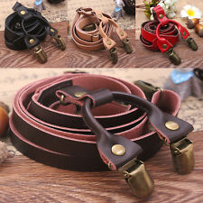 Unisex Adjustable M99G Y-Shape Elastic Braces Suspenders Pants 4 Clips-On Belt