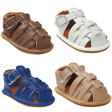ROMIRUS  Baby Boys Sandals Summer Beach PU Leather Soft Sol Shoes Toddlers