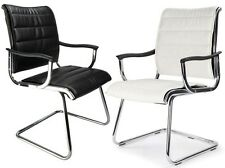 Carbis Visitor Cantilever Leather Meeting Chair from Rapid Office Furniture